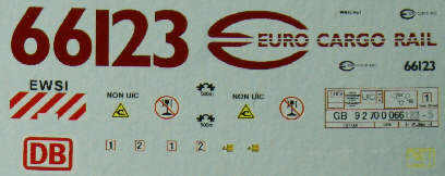 Euro Cargo Rail 66 Decals.